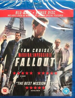 Mission: Impossible - Fallout (Includes Bonus Disc) [Blu-ray] New Sealed