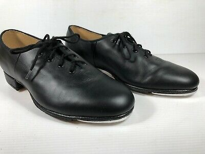 Bloch Lace Up Black Leather Techno Tap 2H Shoes Sz 4.5 As New Condition