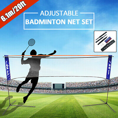 6M Foldable Portable Badminton Net Volleyball Tennis Nets With Frame Stand