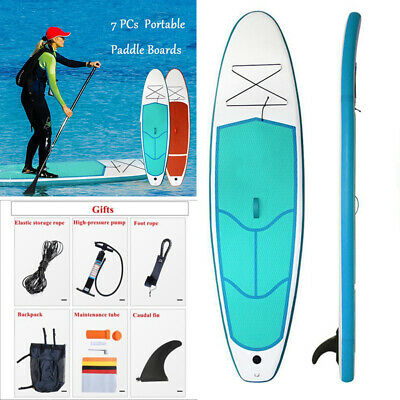 Stand Up 290cm Inflatable Paddle Surfing Boards Surfboard Backpack Kit Kayak AU