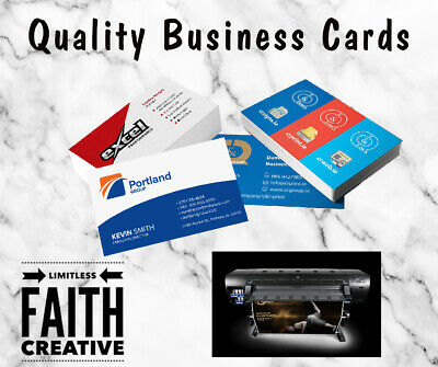 Custom Personalised Business Cards  - FREE Design - Fast Delivery