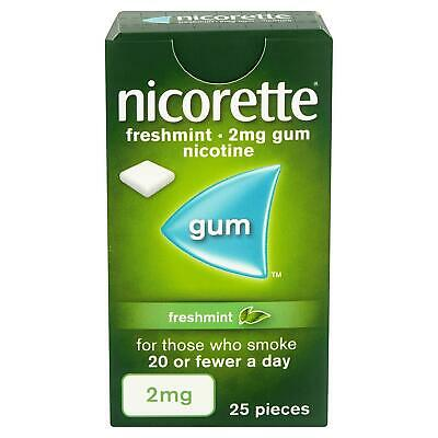 Nicorette Fresh Mint Chewing Gum, 2 mg, 25 Pieces (Stop Smoking Aid)