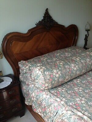 Double bed, 4ft 6inch 19th Century Louis Quinz replica