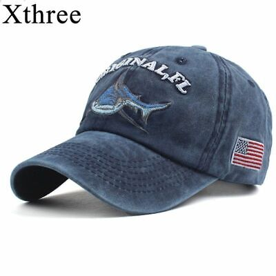 detailed look 7671a 6ad3a Washed Cotton Cap Embroidery Snapback Hip Hop Denim Shark Hat Baseball Caps  Hats