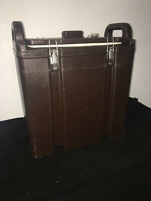 Cambro Brown Insulated Soup/Beverage Carrier 350LCD 3.3/8 Gallon Capacity. #15