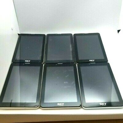 6 Lot Sky device 7.0W Phablet GSM Unlocked For Parts Repair Used Wholesale As Is