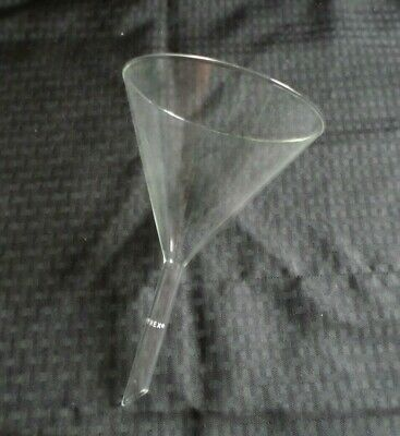 Corning Pyrex 147mm ID Glass 60° Angle Filling Funnel, Short Stem, 6120-6