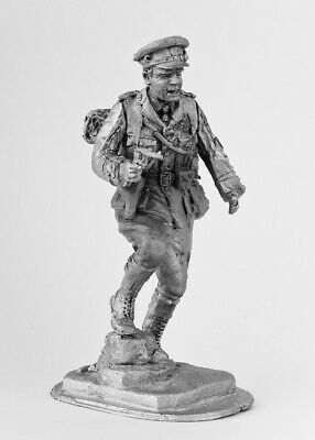 Captain of the British Army, 1914. Tin toy soldier 54mm