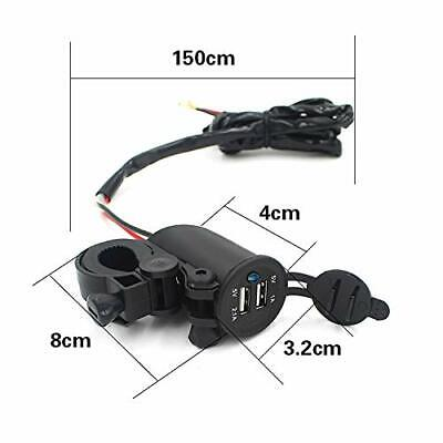 Motorcycle Dual USB Port Charger Socket Adapter Power Outlet Charging For Phone