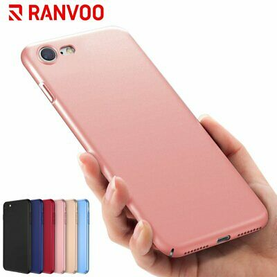 RANVOO For i Phone 7 8 Flexible Hard-Shell Shockproof Protector Back Cover Case