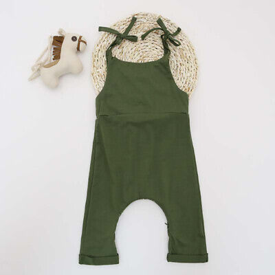 Summer Kid Baby Girl Jumpsuit Romper Outfit Clothes Sleeveles Bodysuit Summer