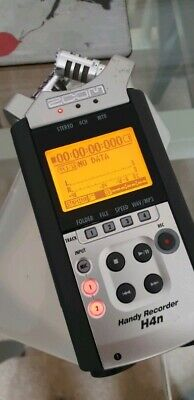 Zoom H4N Handy Recorder, used in protective case.