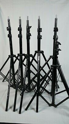 Set of 5 light stands Walimex and Flolight. Similar to Avenger Manfrotto