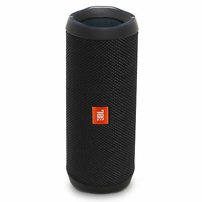 JBL Flip 4 Portable Bluetooth Speaker Black w/ Charging Cable See Pic