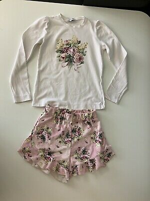 Monnalisa Girls Outfit, Set, Shorts & Top, Size Age 9, Vgc