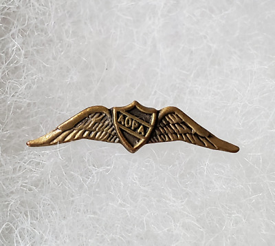 Aopa Vintage Aircraft Owners Pilots Association, Wings Lapel Tie Pin