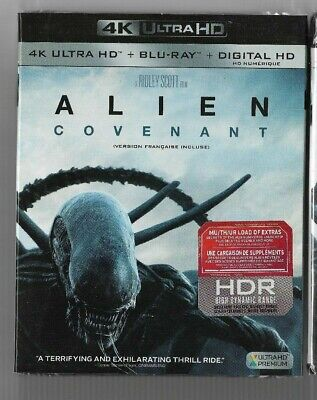 New Sealed 4K Ultra HD + Blu-Ray - Digital - ALIEN COVENANT -  Also In French +