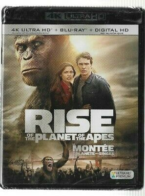 New Sealed 4K Ultra HD + Blu-Ray - Digital - RISE OF THE PLANET OF THE APES