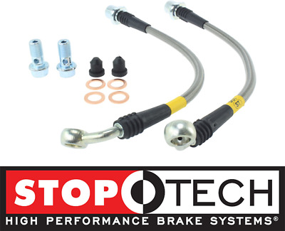 STOPTECH STAINLESS STEEL SS FRONT BRAKE LINES FOR 98-07 TOYOTA LAND CRUISER