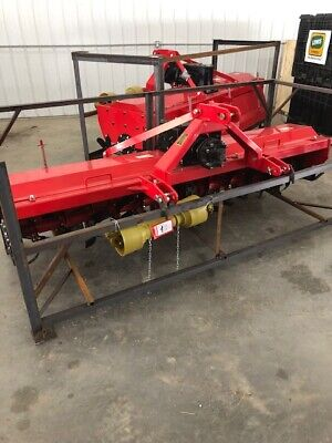extra heavy duty 3 point 7 ft. rotary tiller tractor tiller red color