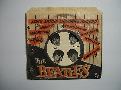 60s UK Beatles Licorice Wrapper Lot..Sleeve Shrink No Candy Card Figure Pin NEMS