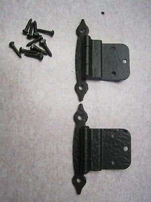 Vintage nos new  FORGED IRON semi concealed Cabinet Cupboard Door hinge 728 31/2