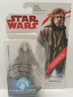 "Star Wars the Last Jedi Luke Skywalker Jedi Exile 3.75"" Figure New"