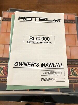 Mint Rotel RLC-900 Power Line Conditioner Owner's Manual