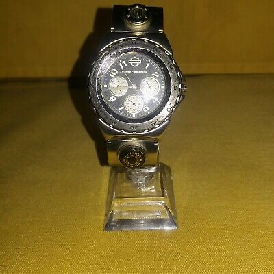 Harley Davidson Vintage Mens Wrist Watch Model HD DM110 With Compass New Band.