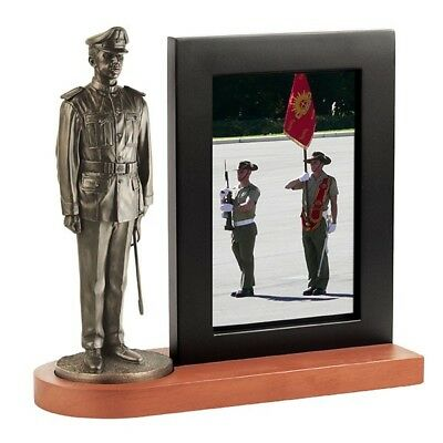 """Naked Army """"Rmc Duntroon"""" 7""""/180Mm Figurine With Photo Frame"""