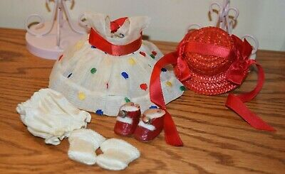"""Vintage 1952 Strung Vogue Ginny DEBUTANTE SERIES OUTFIT """"GINGER"""" w/Center Snaps"""