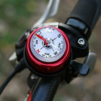 Bicycle Bell Compass Bike Bell Mountain Bicycle Handlebar Safety Alarm  F↔