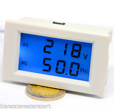 Voltmeter AC & Frequency Counter from Panel Unique Tool 220V 50Hz LCD Blue LED