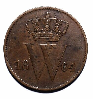1864 Netherlands One 1 Cent - Willem III - Lot 808