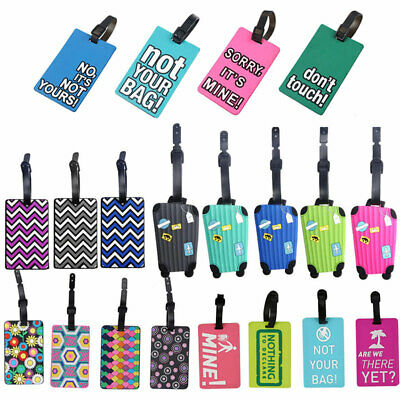 Silicone Letter Travel Suitcase Luggage PVC Tags Name ID Bag Label Baggage