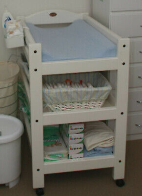 VGC White Boori Country collection change table with side holder