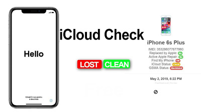 Check iCloud Status On/Off & Stolen/Blacklisted/Clean - 100% The Fastest Service