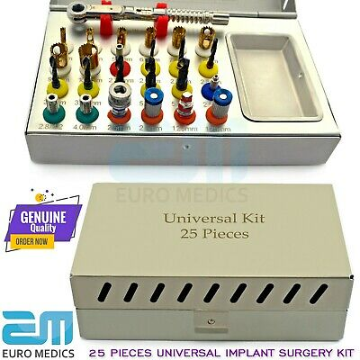 25x Basic Dental Implant Universal Kit Surgical Tools Conical Drills Expander CE