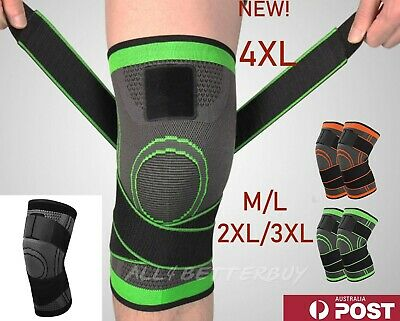 Weaving 3D Knee Brace Breathable Sleeve Support Running Jogging Joint Pain