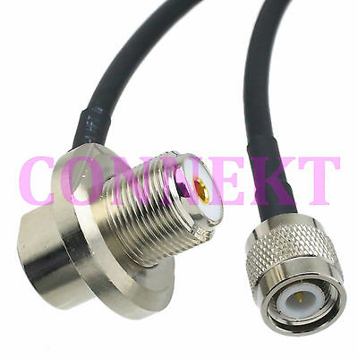 TNC male to SO239 UHF female 90°for car mobile radio antenna RG58 cable 16FT