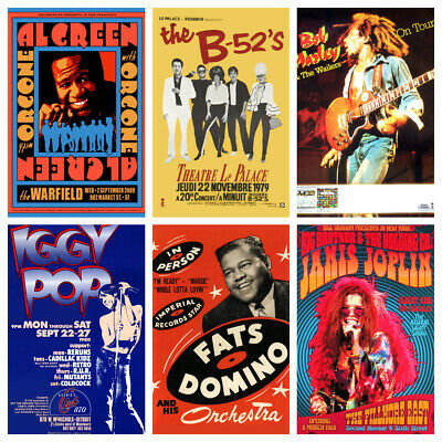MUSIC & GIG POSTERS Vol 2 Rock Blues Alt Vintage Pub Bar Shop Cafe Club Decor