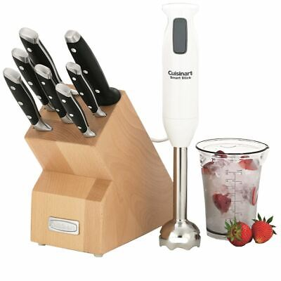 Cuisinart - 8pce Knife Block Set and Stick Blender Combo