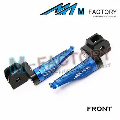 FRW CNC Blue Front Foot Pegs For Yamaha YZF 600 R THUNDERCAT 96-03 97 98 99 00