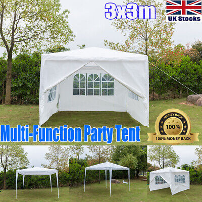 Best Price 3Mx3M Party Tent Outdoor PE Garden Gazebo Marquee Canopy Awning UK