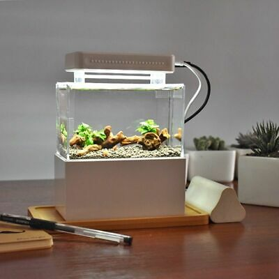 Mini Portable Desktop Aquarium with Water Filtration LED & Quiet Air Pump