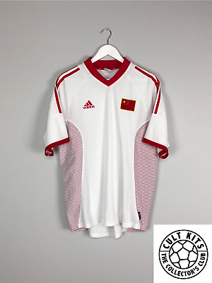 CHINA 02/04 Home Football Shirt (L) Soccer Jersey Adidas World Cup