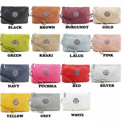 Womens Multi-Purpose Faux Leather Small Clutch Wristlet Cross Body, Shoulder Bag