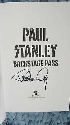 """Paul Stanley / Kiss 🎸Autographed 🎸  """"Backstage Pass"""" New  Signed  2019  Book"""
