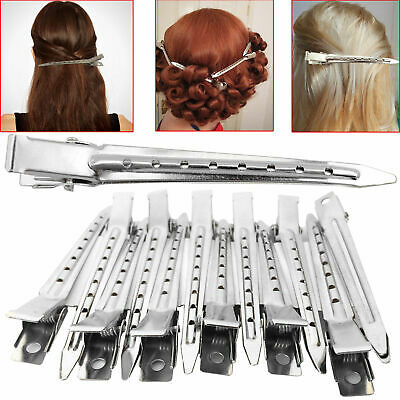 24X Metal Hair Sectioning Clips Sprung Strong Grip Hairdressing Hair Clips Set