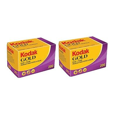 Kodak Gold 200 color Film Pack 135 (24 Exposures) 2 PACKS***Fast Free Postage***